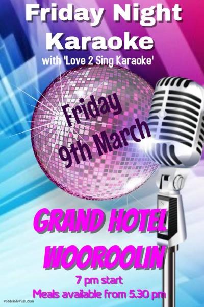 Karaoke at the Grand Hotel