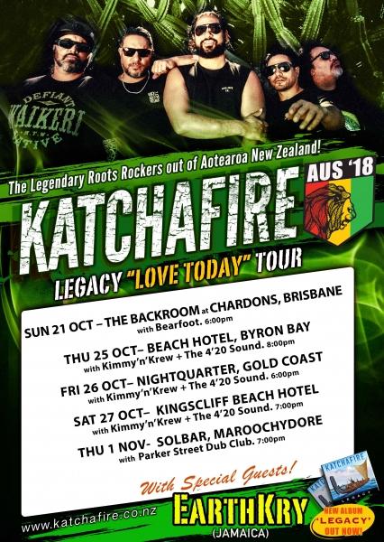 Katchafire (nz) + Earthkry (jamaica)