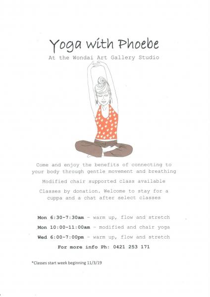 Wondai Yoga With Phoebe For Seniors