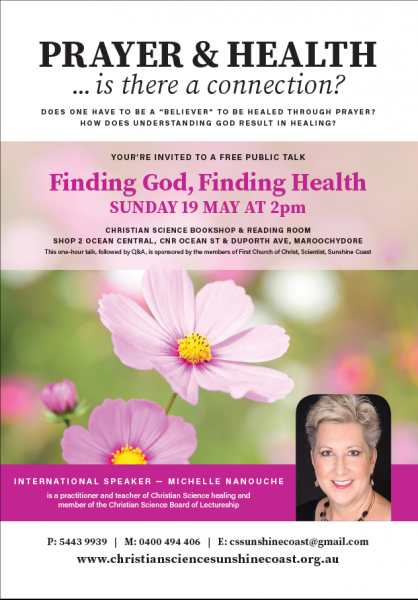 Public Talk: Finding God, Finding Health